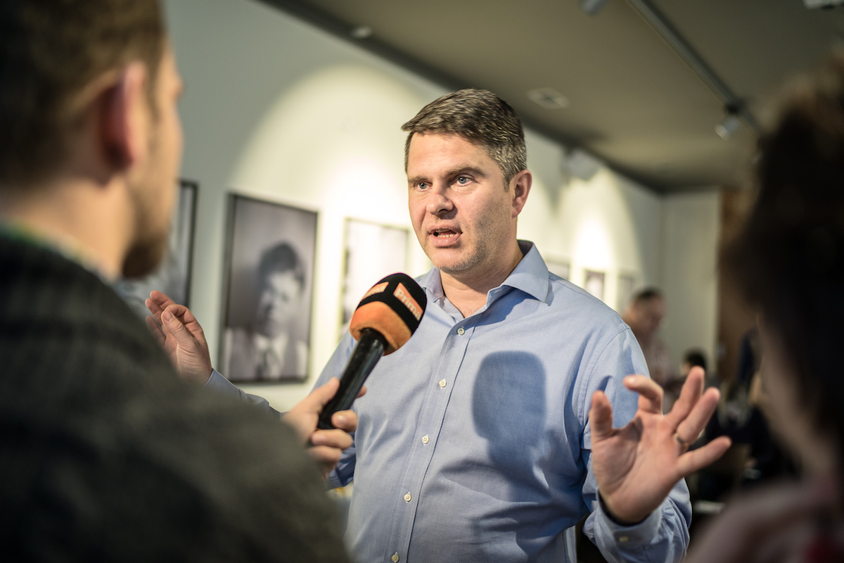 Generální ředitel Primy Marek Singer na středeční tiskové konferenci