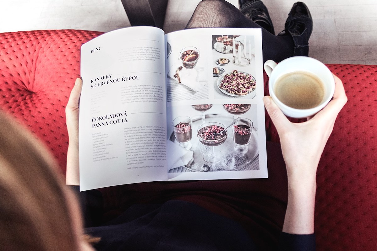 Ukázka designu Unexpected Magazine