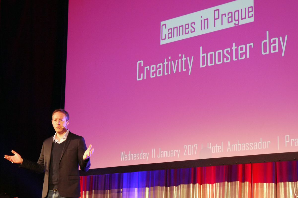 Rob Dembitz na akci Creativity Booster Day