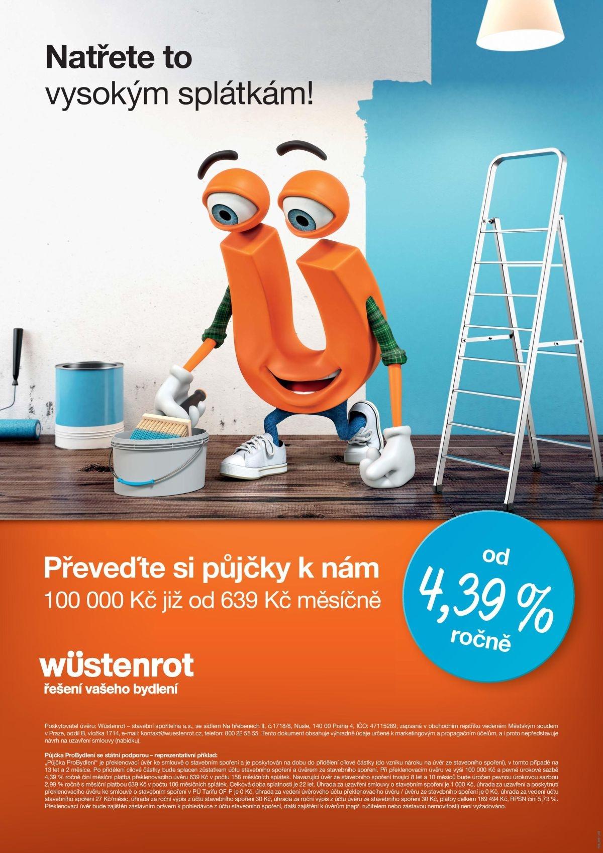 První letošní kampaň Wüstenrot s maskotem Wustíkem