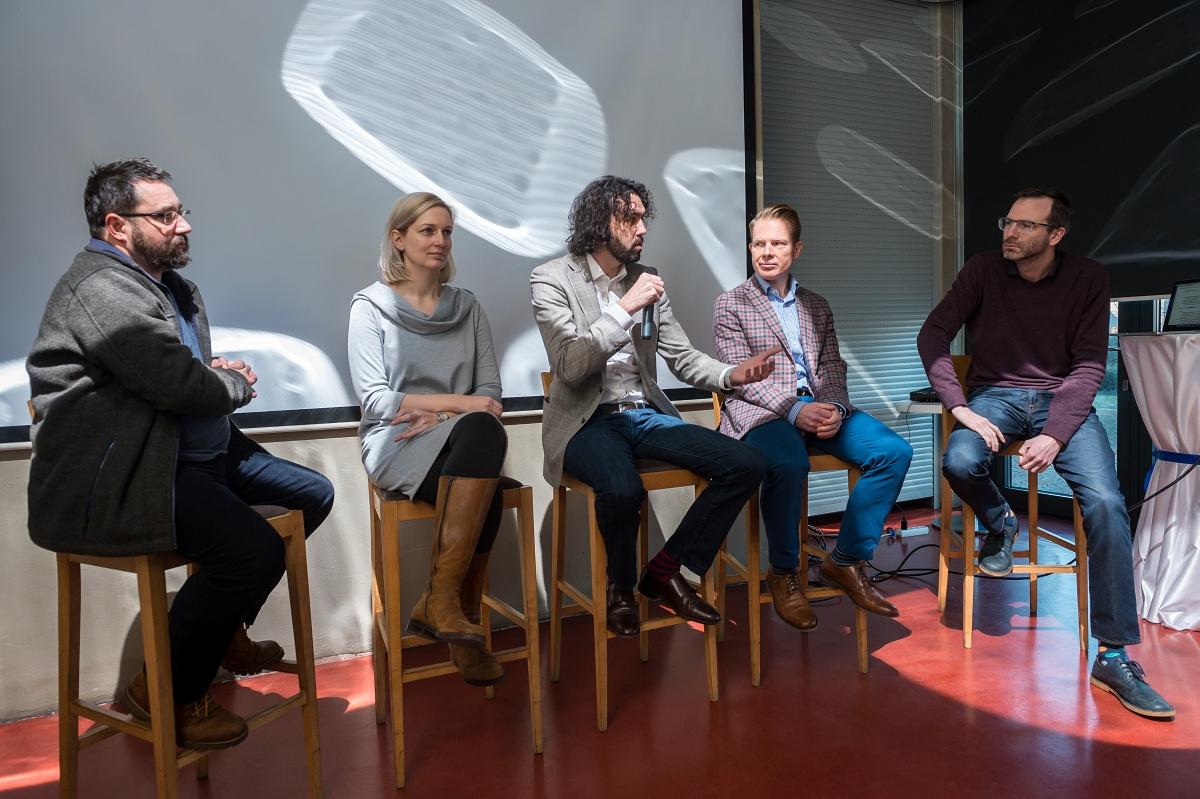 Zleva Pavel Vondráček, Jaroslava Musilová, Petr Mára, Patrik Schober, Ondřej Aust. Foto: Vojta Herout