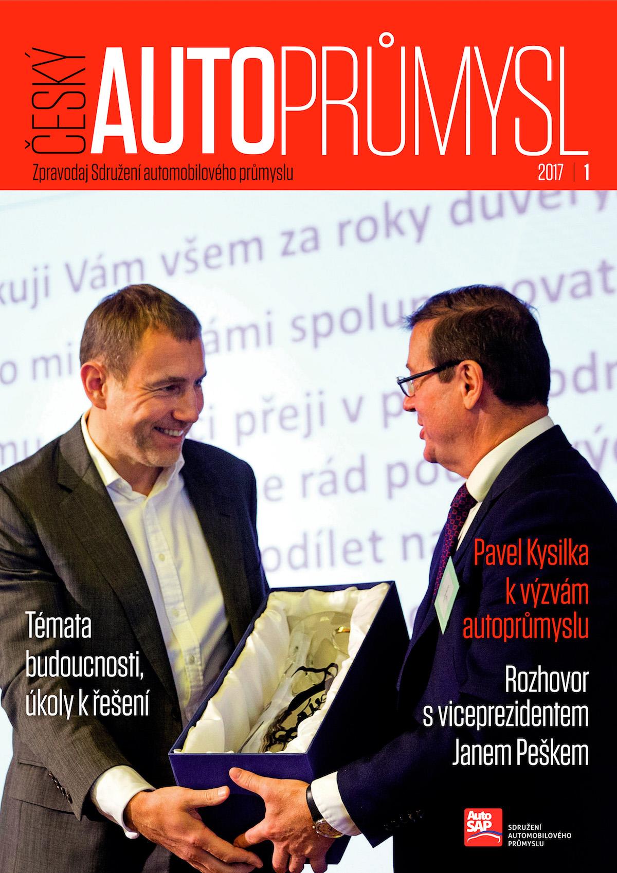 Titulní strana prvního vydání zpravodaje Český autoprůmysl