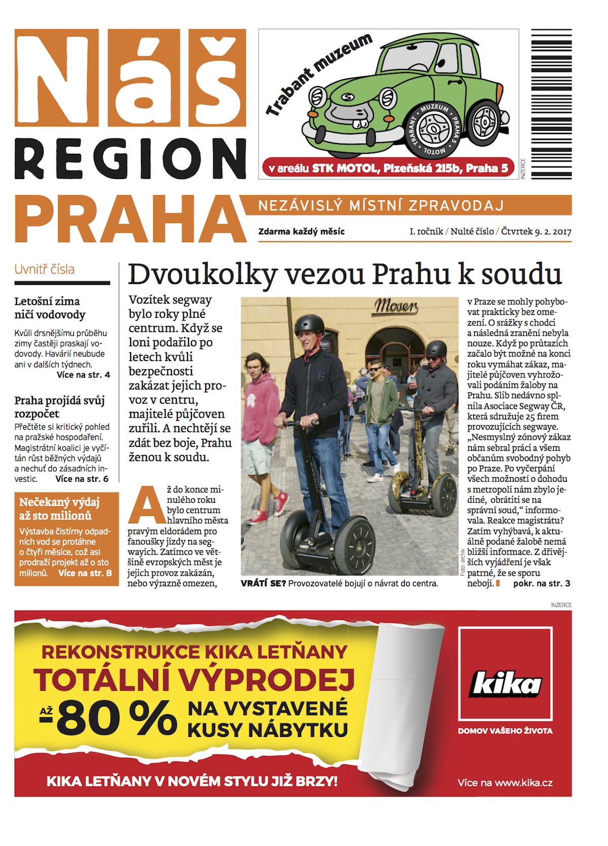 Pražské vydání titulu Náš region