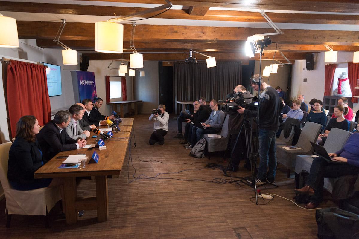 Tisková konference nové asociace v Hergetově cihelně. Foto: Jakub Hrab