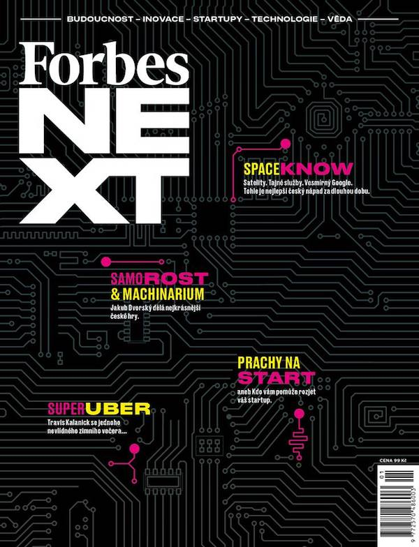 Obálka prvního pravidelného vydání Forbes Next