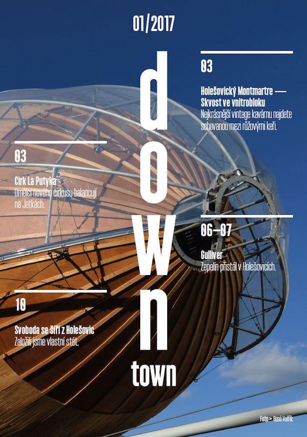 Titulní strana prvního vydání magazínu Down Town