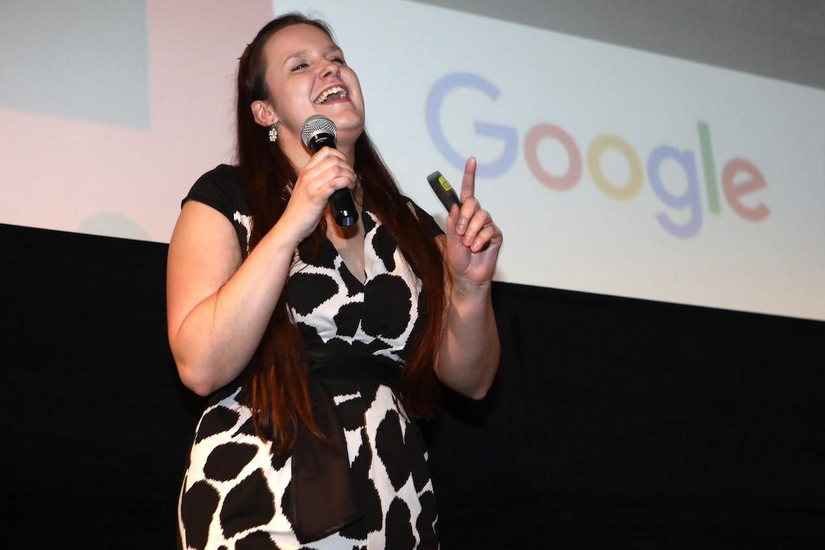 Jana Moudrá na přehlídce AppParade v únoru 2017. Foto: Tomáš Pánek