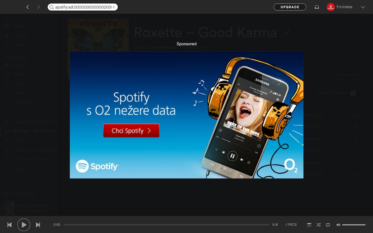 Příklad využití reklamního formátu Overlay Desktop