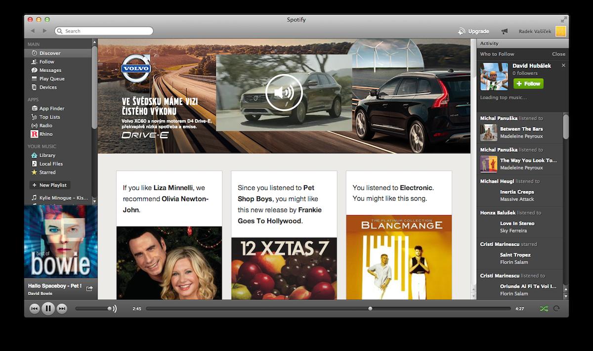 Na švédském Spotify bylo prvním inzerentem v Česku švédské Volvo