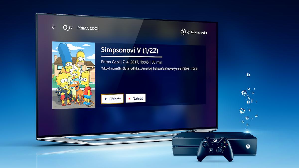 O2 TV na konzoli Xbox