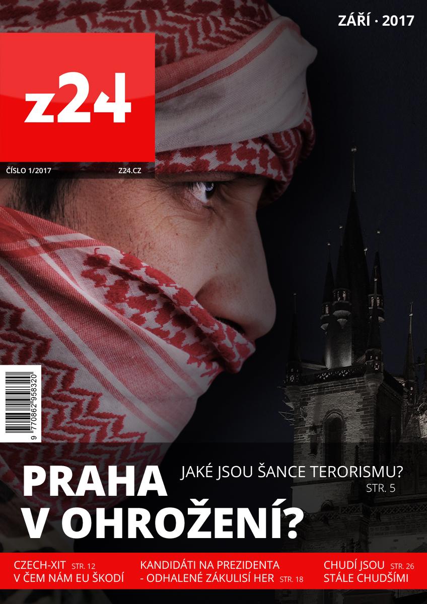 Ukázka titulní strany chystaného týdeníku Z24