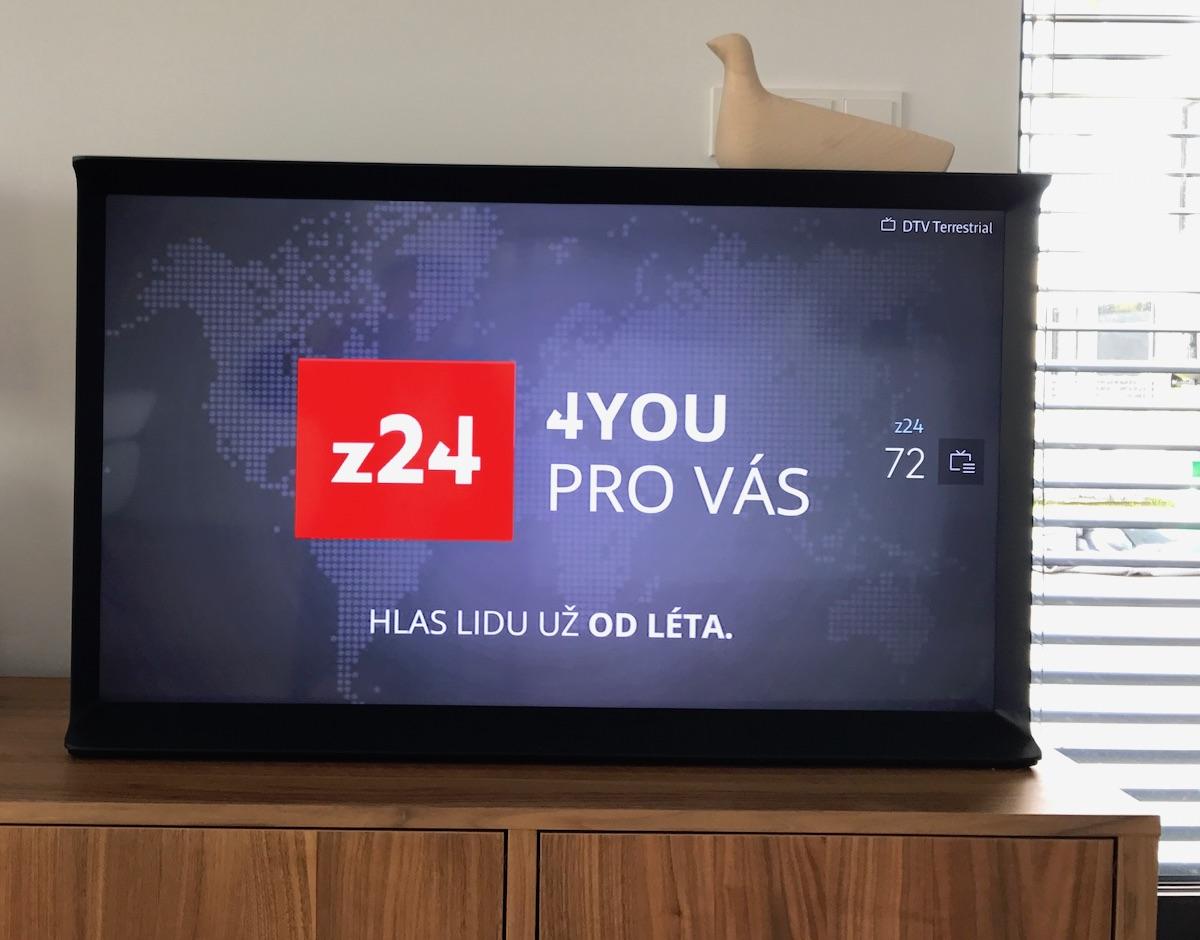 Testovací obrazovka Z24 v síti Prague Digital TV