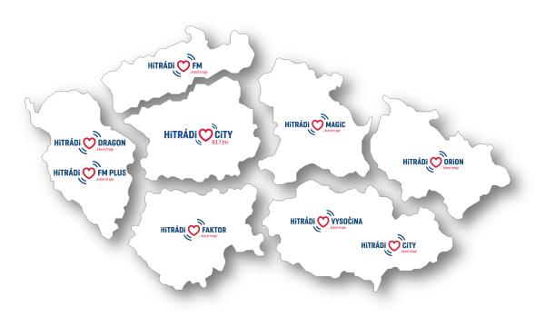 Aktuální síť Hitrádií