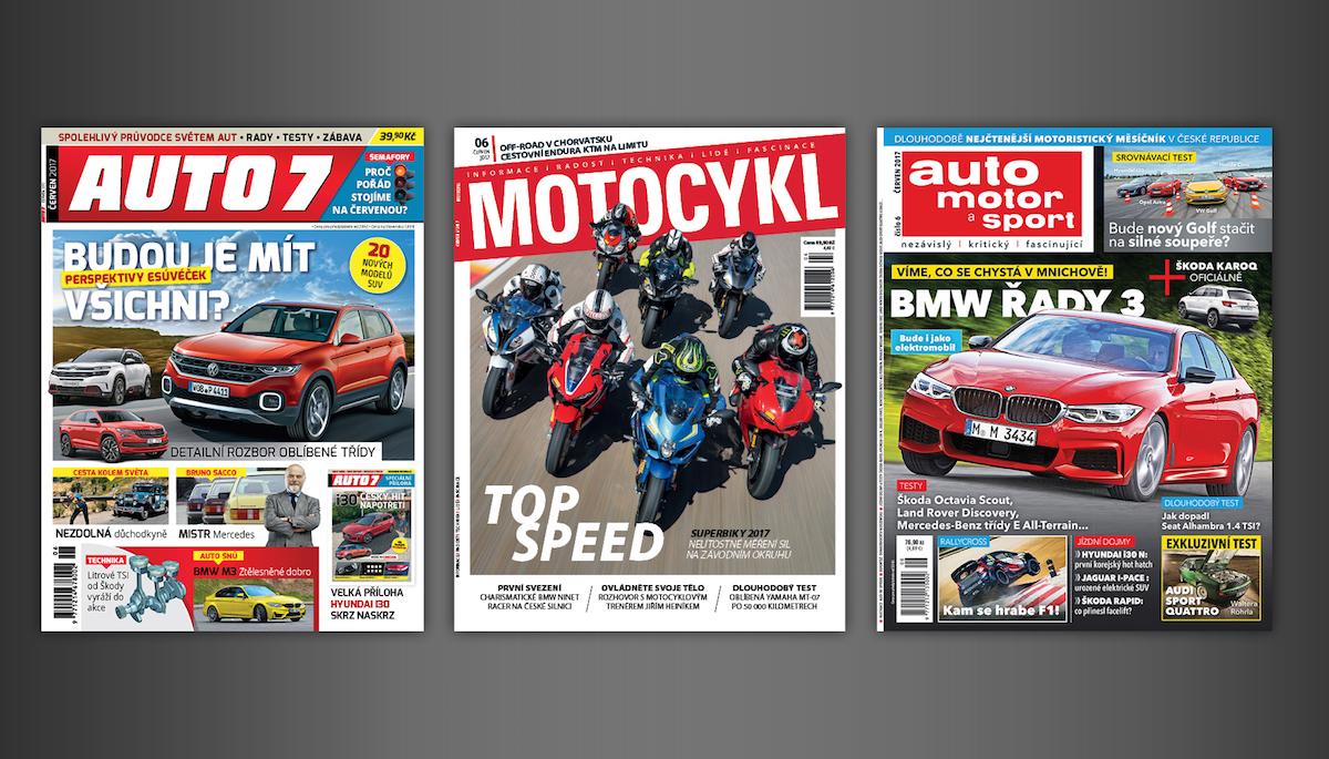 Licenční motoristické časopisy nově v portfoliu Mladé fronty
