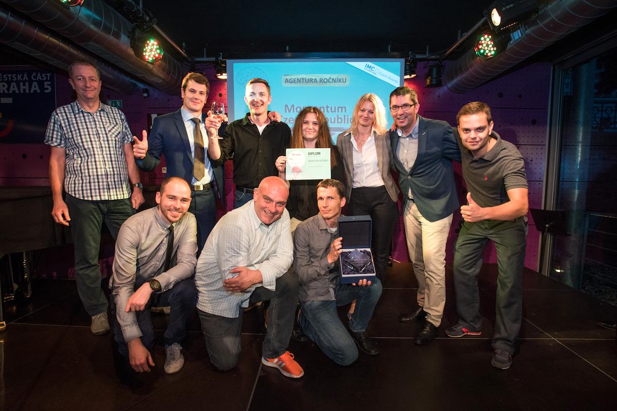 Tým vítězné agentury Momentum Czech Republic