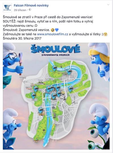 Premiéru Šmoulů letos podpořila soutěž s geocachingem