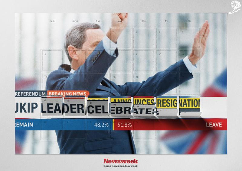 Victory Resignation. Z kampaně Y&R Prague pro Newsweek