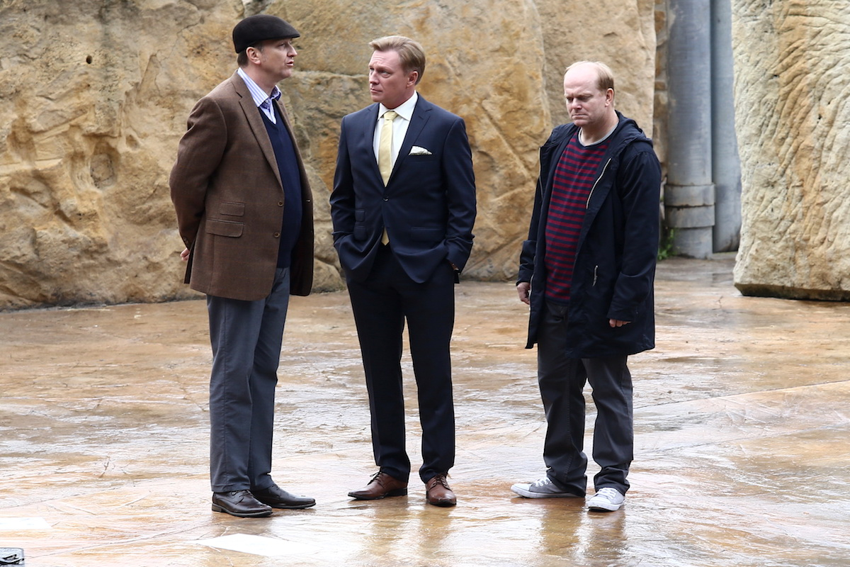 Jan Vondráček, Michal Dlouhý a David Novotný v seriálu Kapitán Exner. Foto: TV Prima