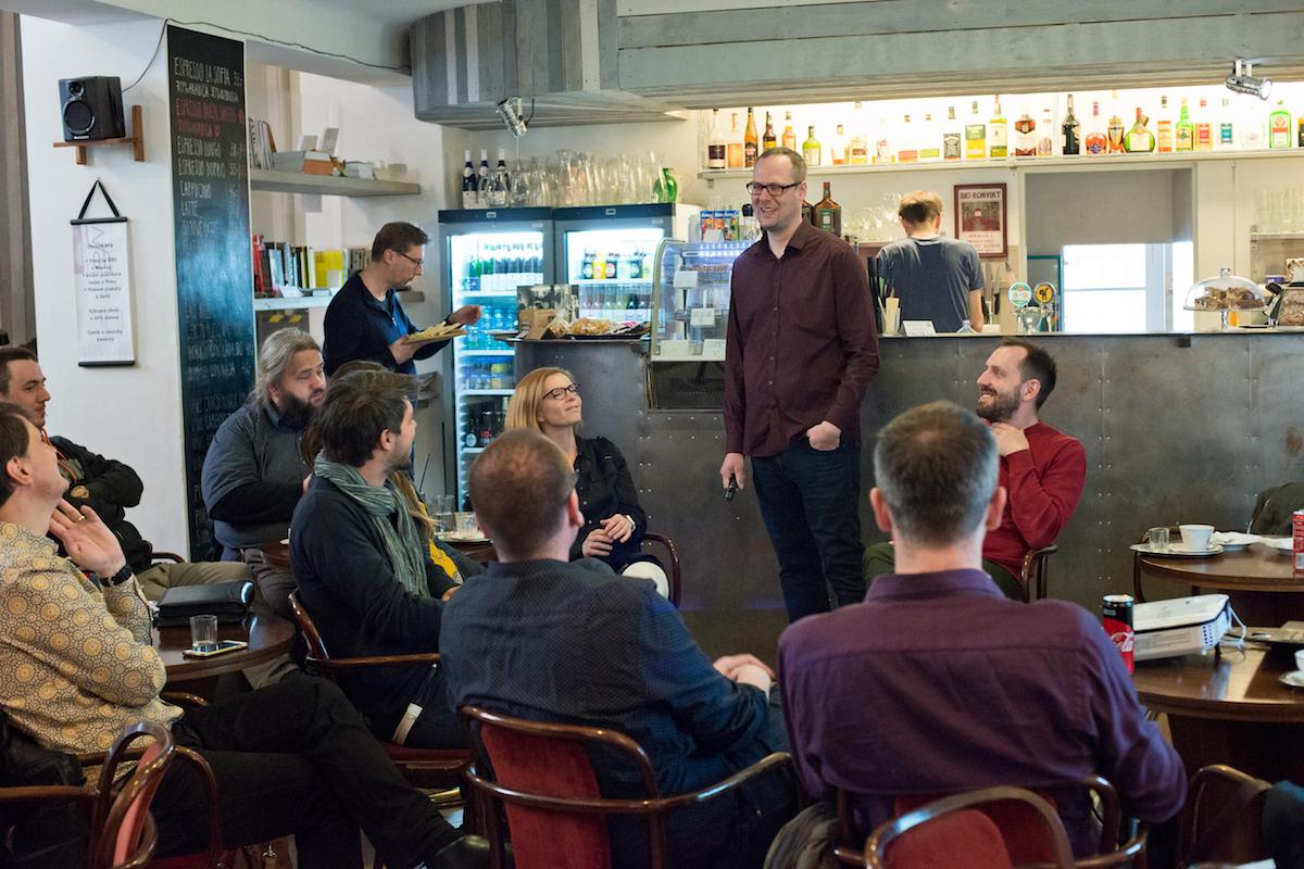 Promluvil i Jiří Rýdl, marketingový ředitel Warhorse Studios. Foto: David Bruner