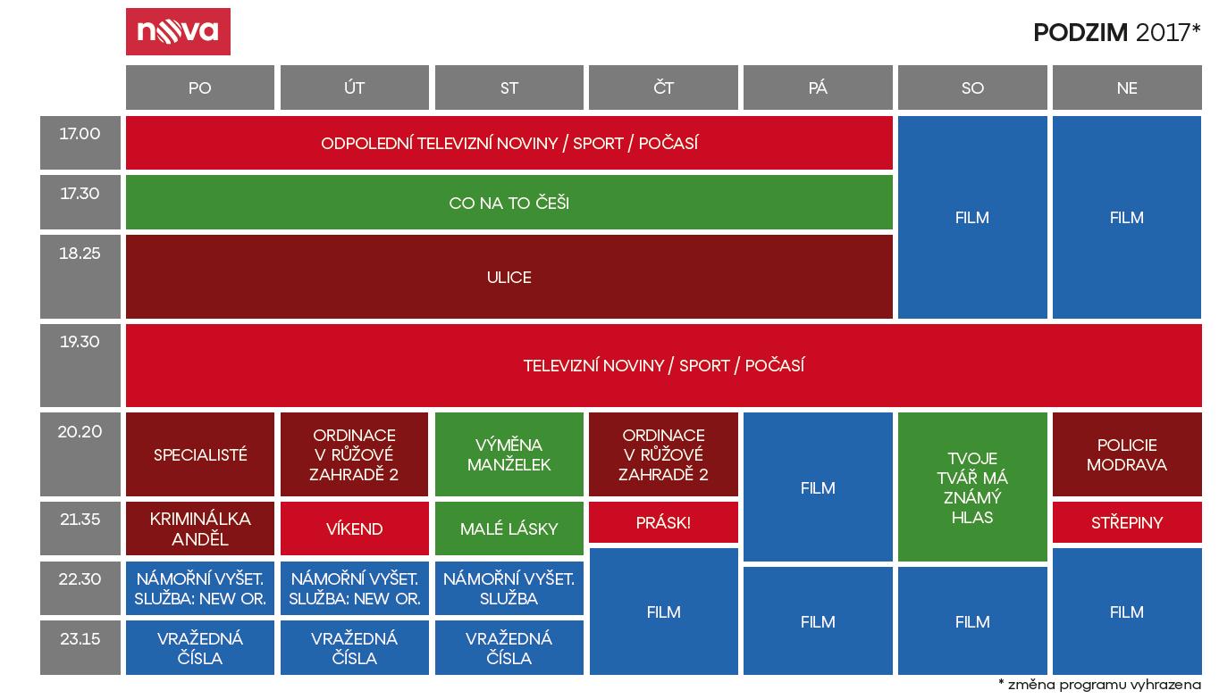 Programové schéma pro podzim 2017: Nova
