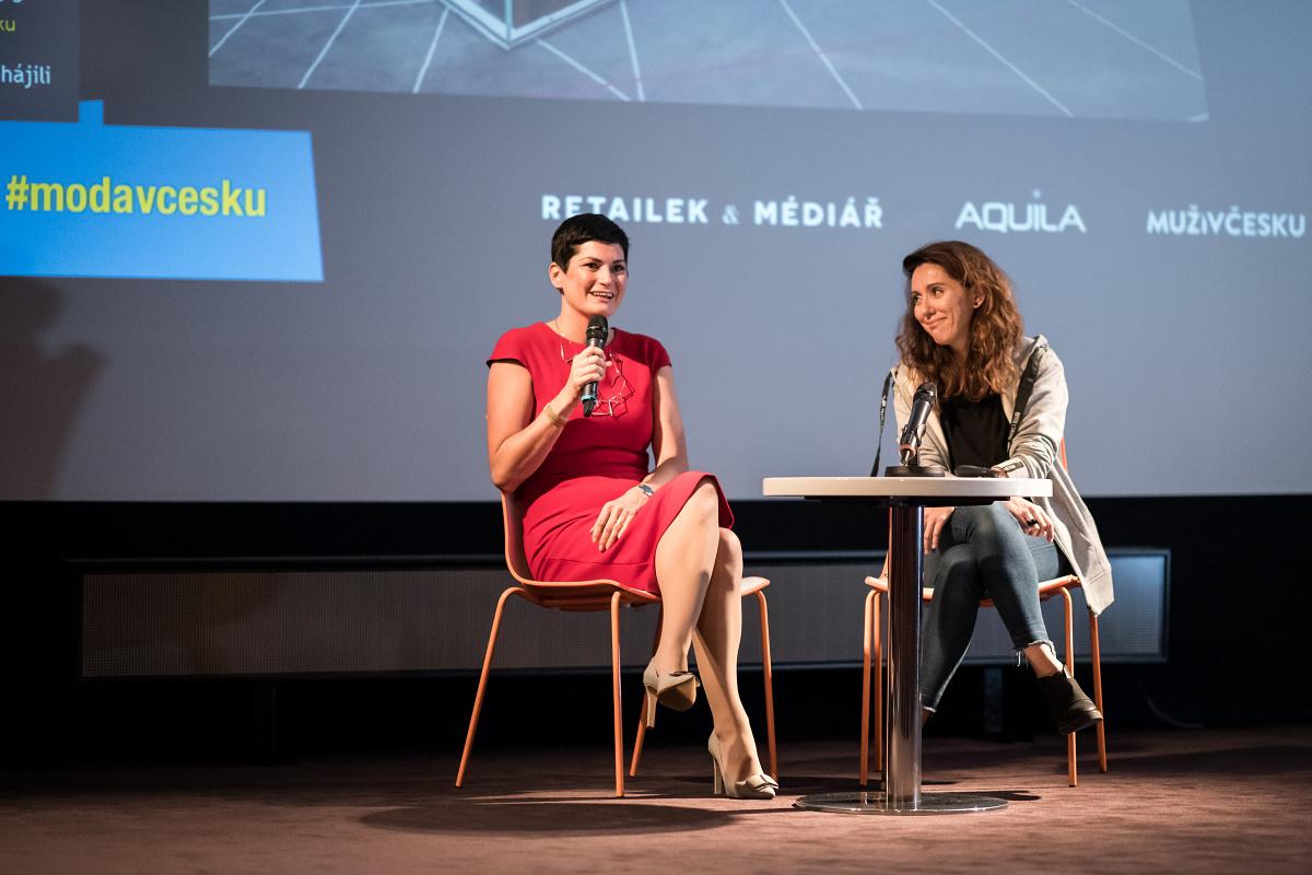 Jaroslava Matoušová z Unibail-Rodamco a Katarína Král z Czech Labels & Friends