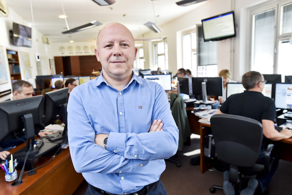 Jaroslav Kábele v redakci ČTK. Foto: ČTK / Šimánek Vít