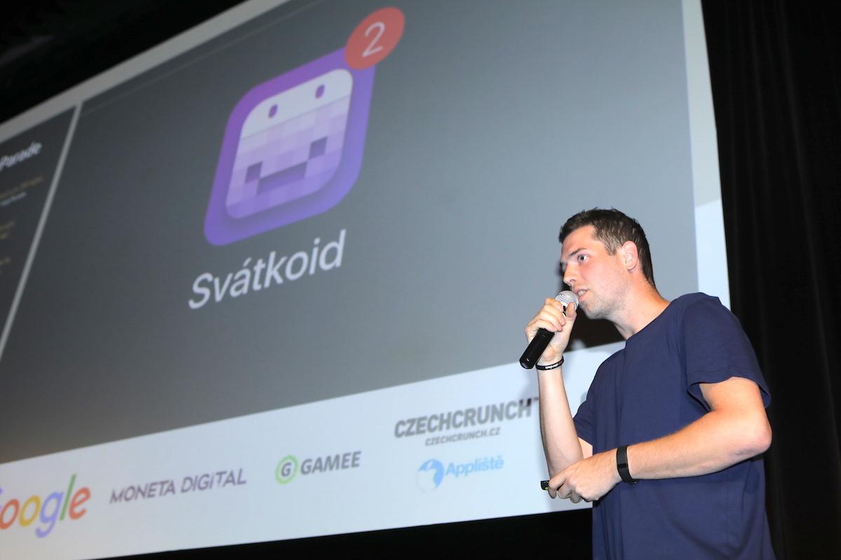 Vzácný host Daniel Máslo ukázal aplikaci Svátkoid