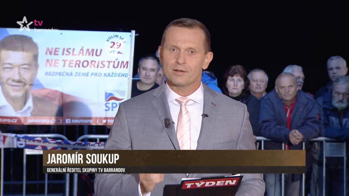 Propagace SPD v Duelu Jaromíra Soukupa ze 7. září