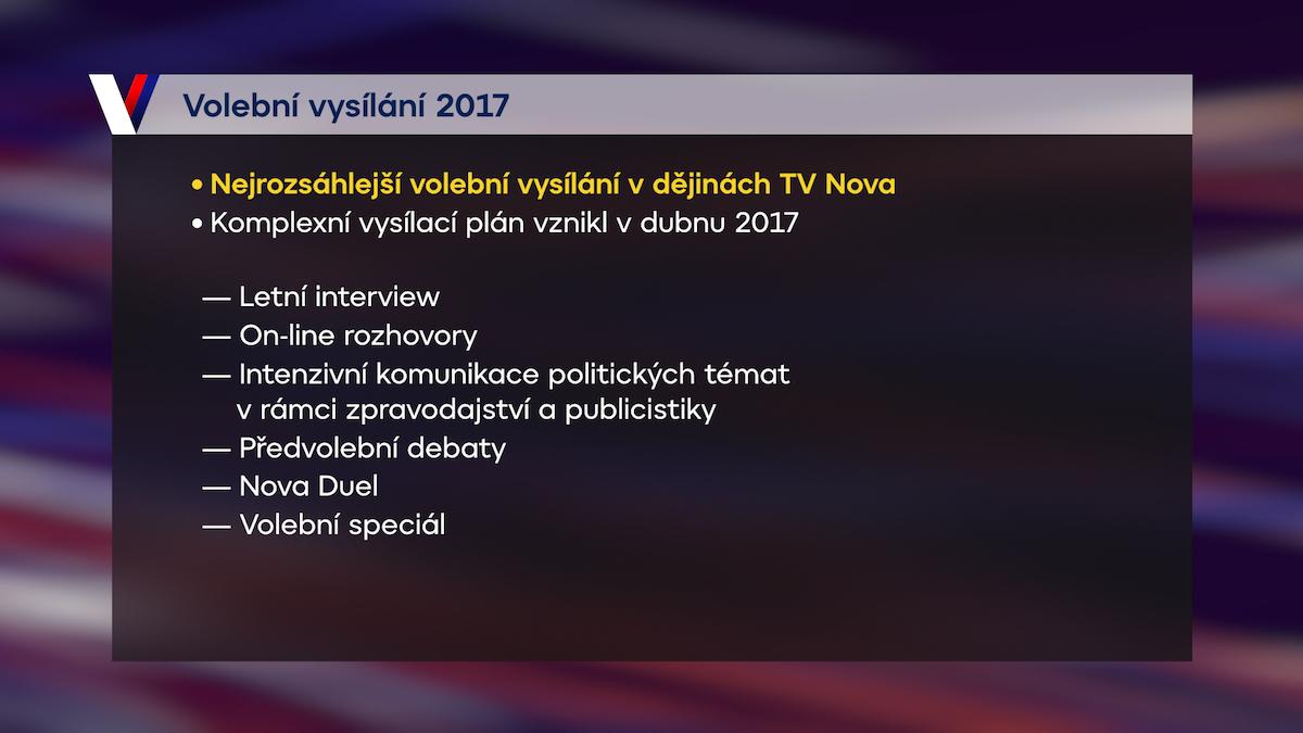 Volební vysílání na Nově