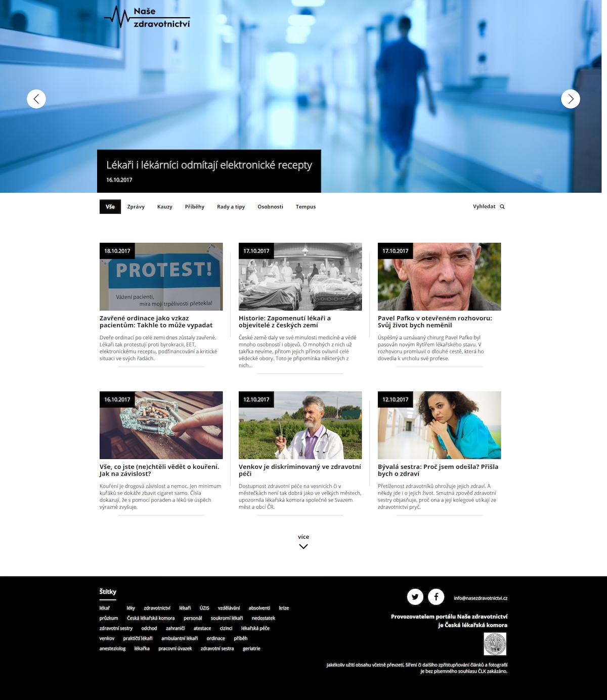 Tak vypadá nový online magazín Naše zdravotnictví