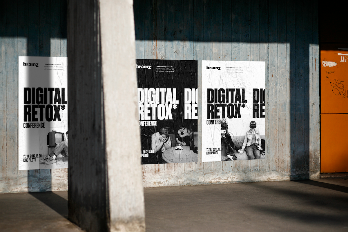 Digitální retox na plakátech