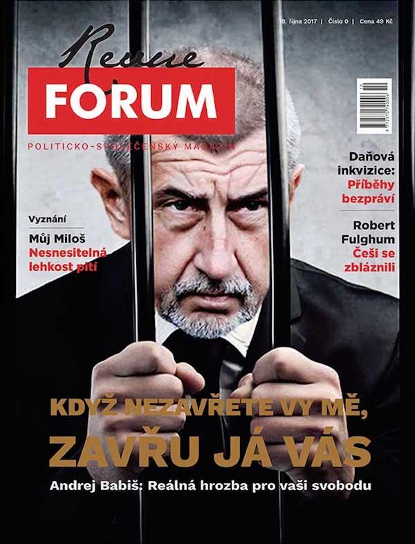 Titulní strana prvního vydání Revue Forum