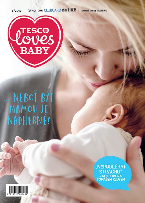 Titulní strana nového časopisu Tesco Loves Baby