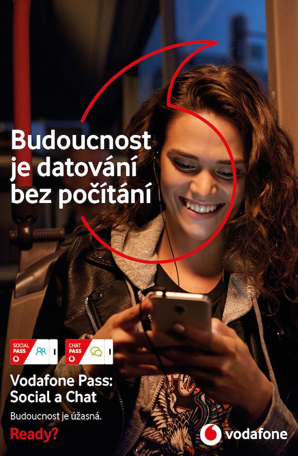 Inzerát z nové kampaně Vodafonu