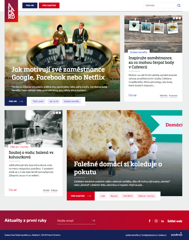 Homepage nového webu Sodexa