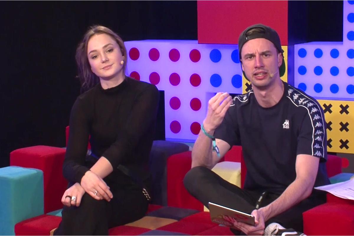 Gabriela Heclová a Jonáš Čumrik na Óčku