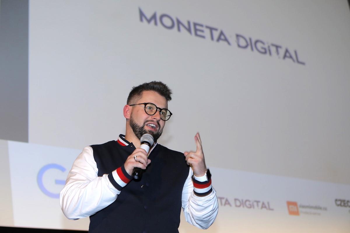 Jakub Komenda jako zástupce partnera akce Moneta Money Bank