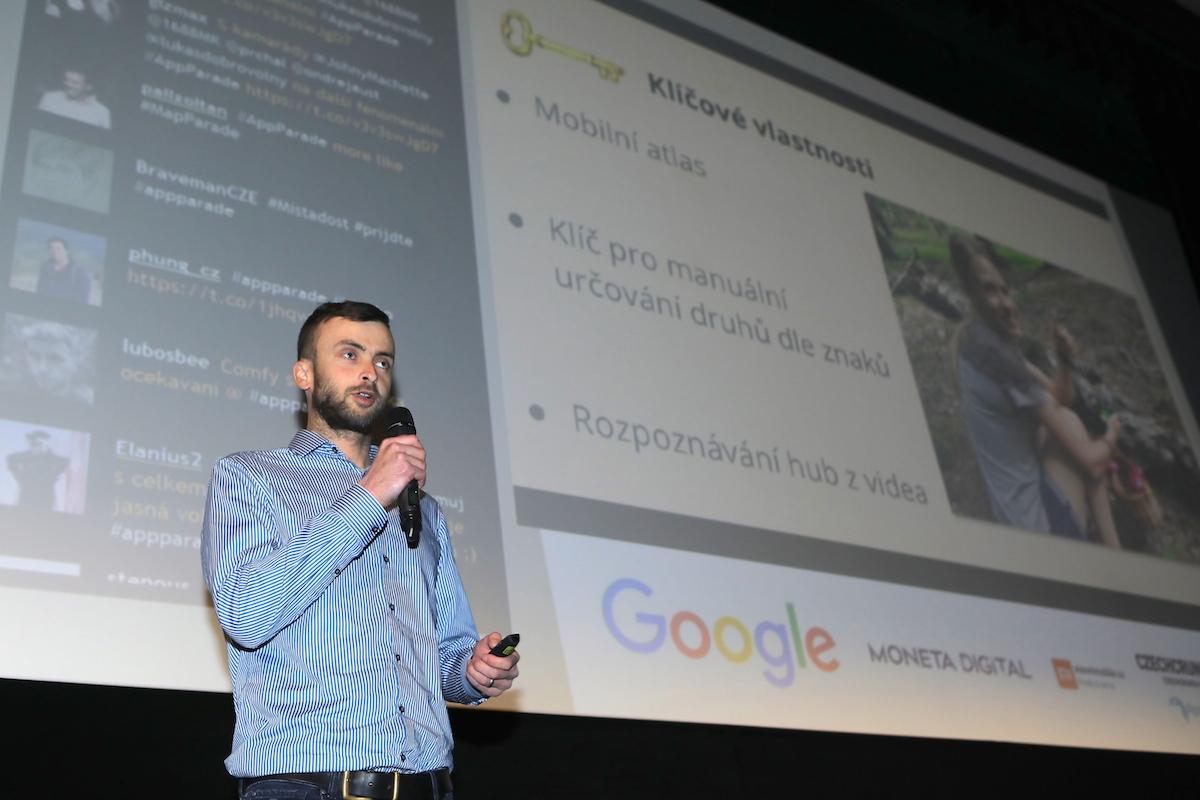 Vojtěch Kučera prezentoval Aplikaci na houby