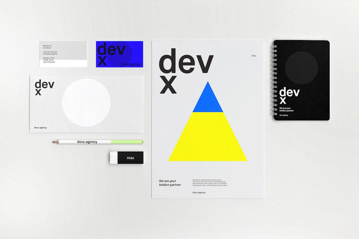 Nová vizuální identita agentury Devx od Tomáše Nečase