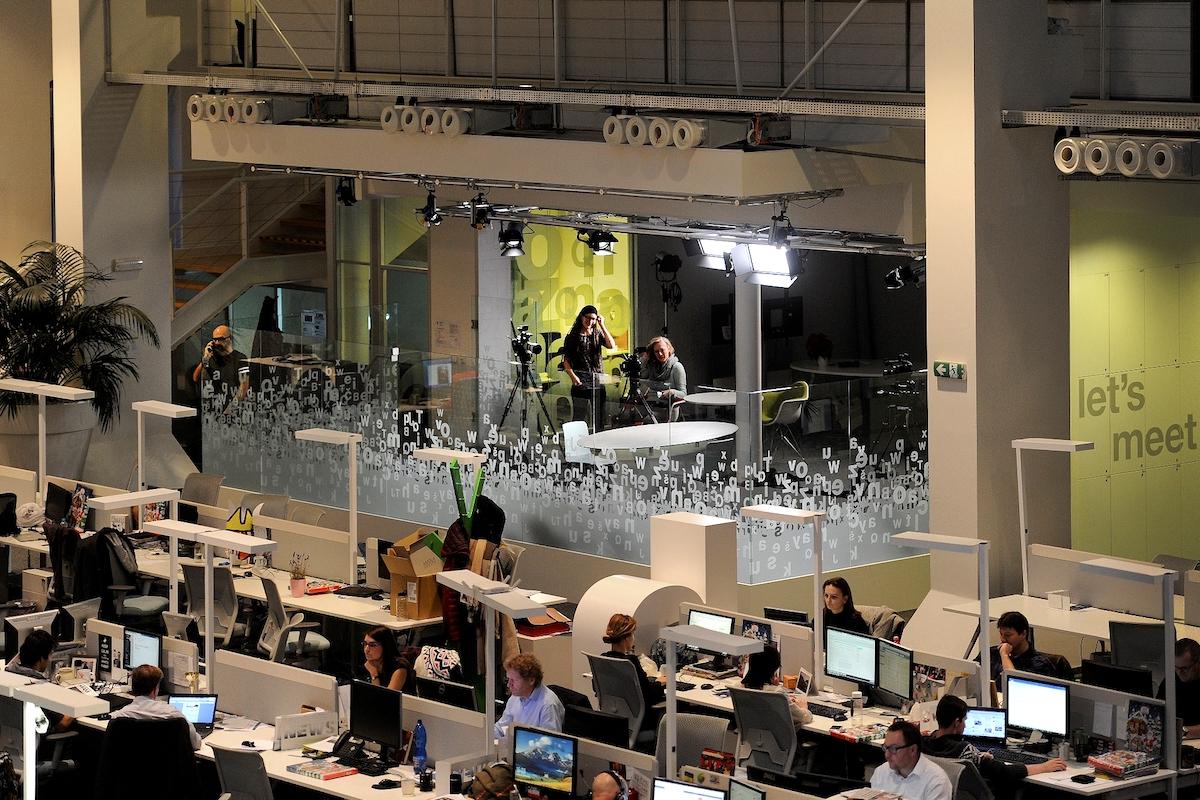 Nové studio v sídle Economie v pražském Karlíně
