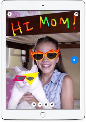 Messenger Kids umožňuje využívat filtry a jiné nástroje