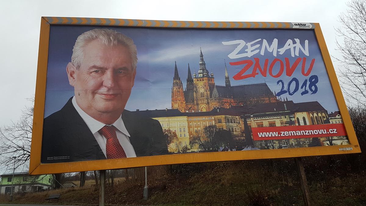 Billboardy, v kampani, kterou Miloš Zeman nevede. Foto pro Médiář: Robert Malecký