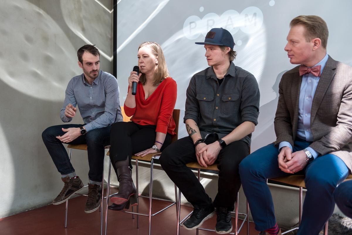 Zleva Štěpán Jandl a Eva Němčková (oba Feedo), Lukáš Ždárský (Dudes & Barbies) a Patrik Schober (Pram Consulting). Foto: Vojta Herout
