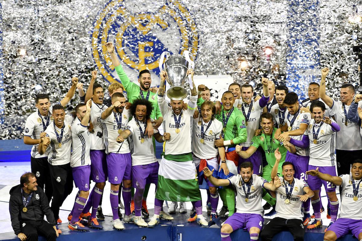 Ligu mistrů v roce 2017 vyhrál Real Madrid nad Juventusem Turín. Foto: Profimedia.cz