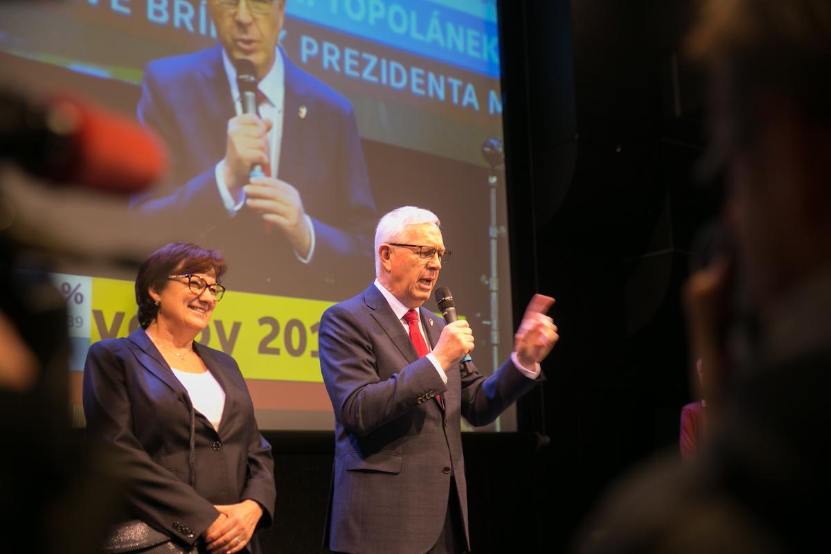 Jiří Drahoš s chotí Evou