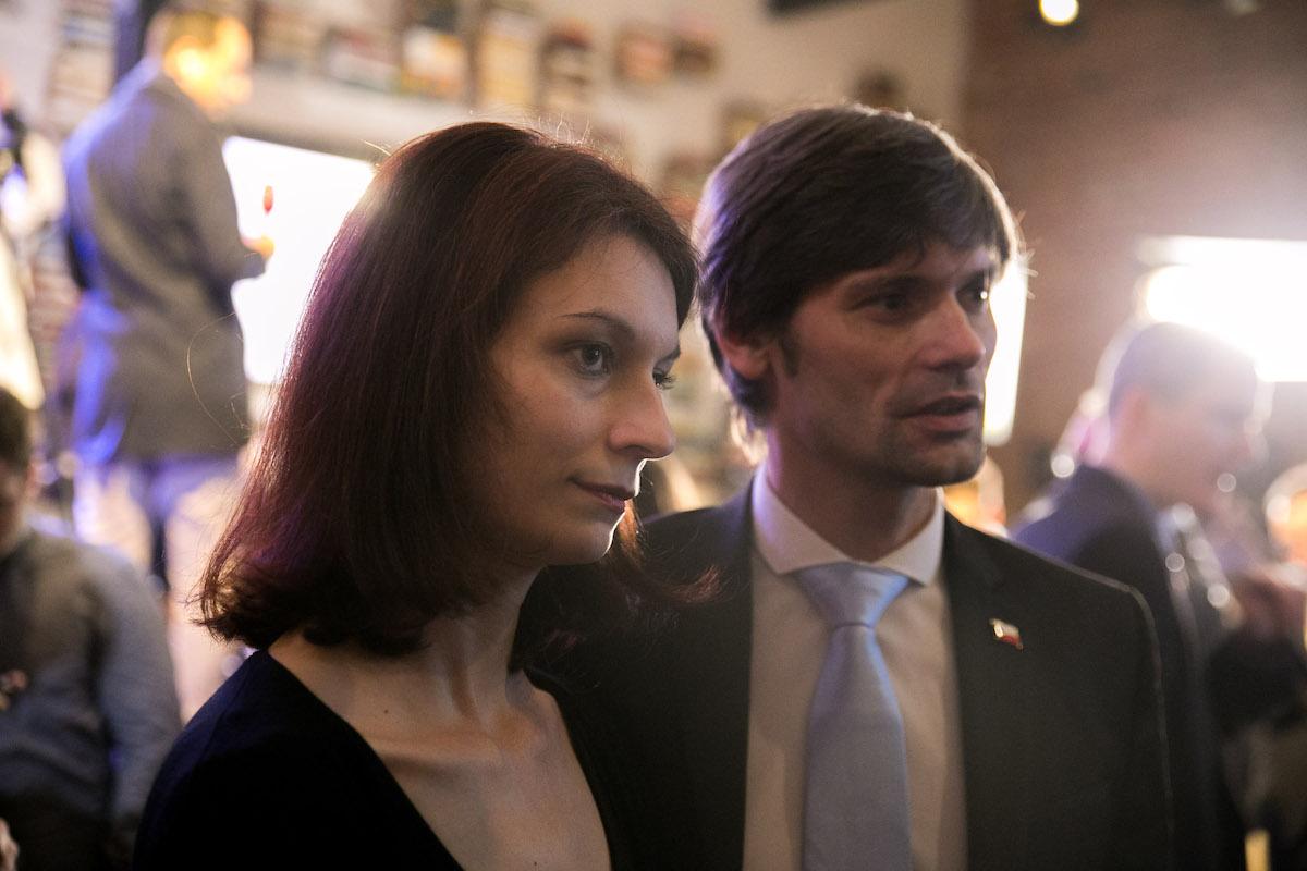 Marek Hilšer s chotí Monikou