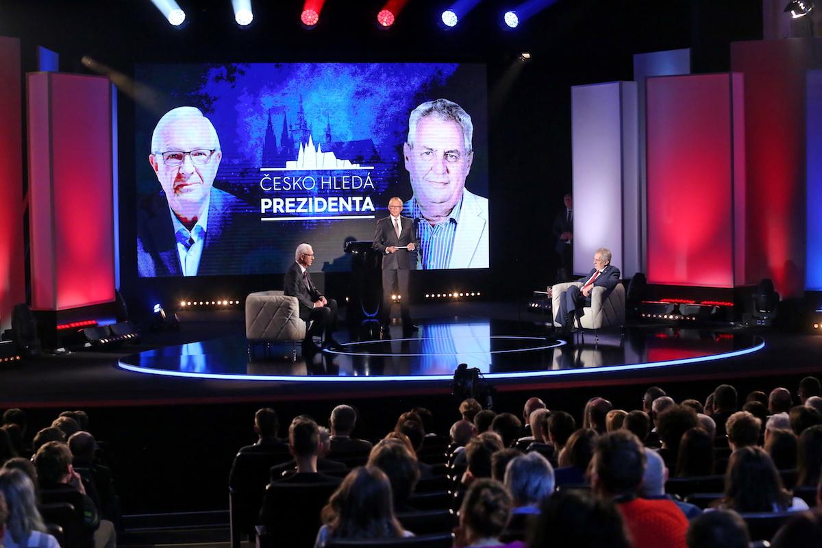 Show Česko hledá prezidenta se odehrála v Hudebním divadle Karlín. Repro: TV Prima