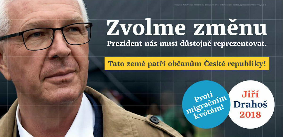 Inzertní odveta Jiřího Drahoše v Deníku v pátek 19. ledna