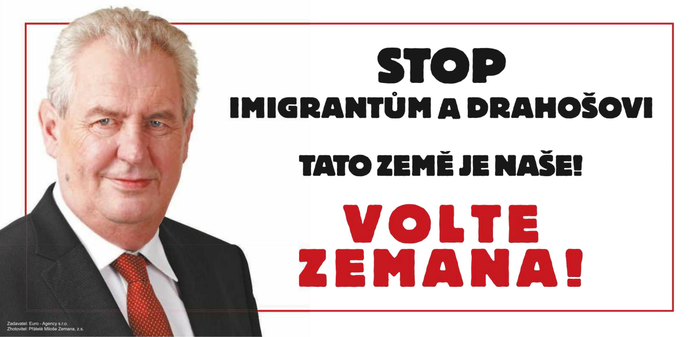Inzerát Přátel Miloše Zemana v Deníku a Právu z 18. ledna
