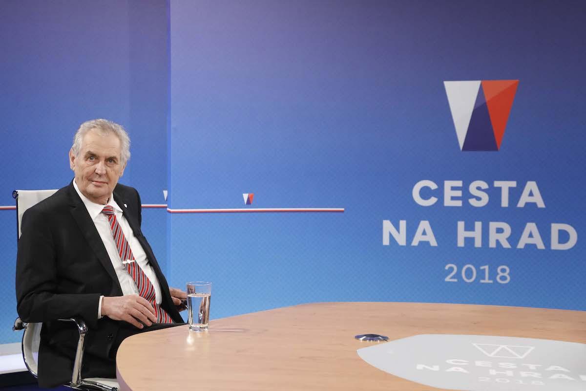 Debatu se Zemanem Nova nazvala Cesta na Hrad. Foto: TV Nova
